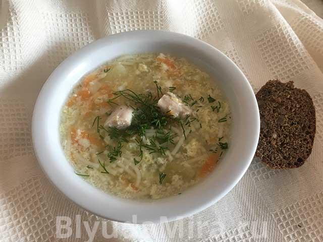вермишелевый суп с яйцом