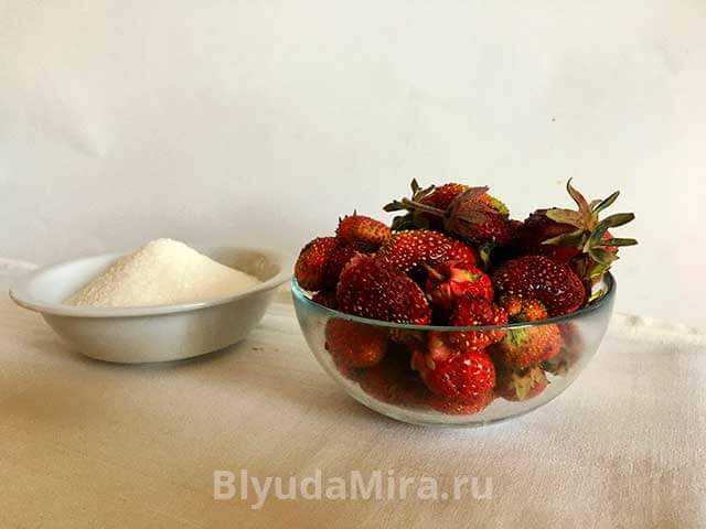 Сахар и клубника