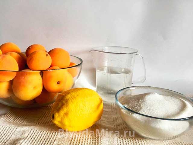 Абрикосы лимон сахар