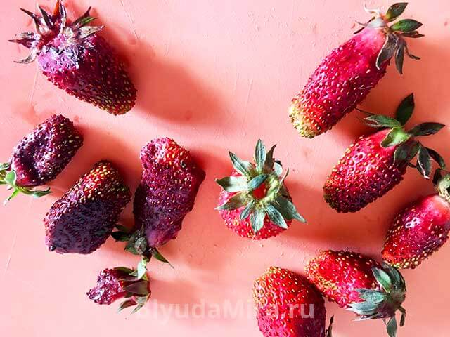 Сортируем ягоды клубники