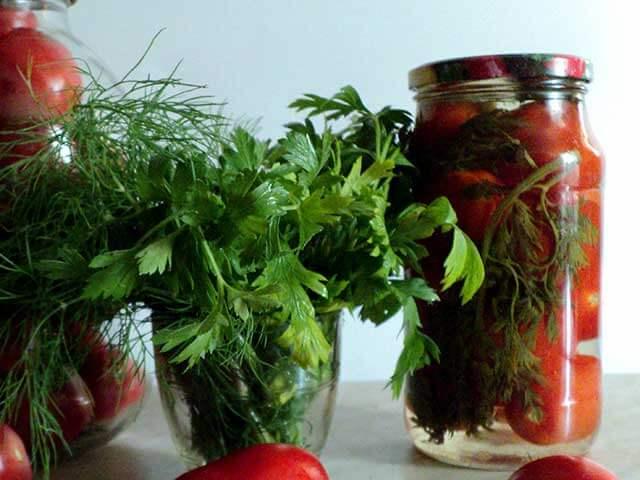 Готовые томаты