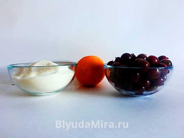 Крыжовник, сахар и апельсин