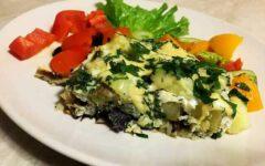 Баклажаны с картошкой, яйцом и сыром