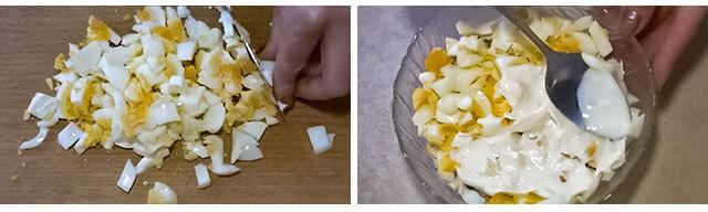 Выкладываем яйца