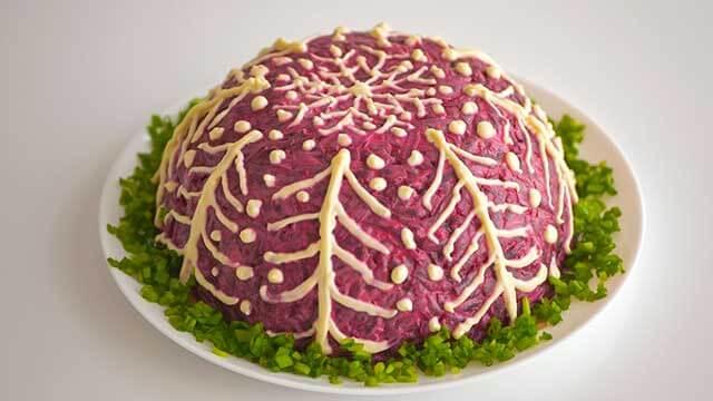 салат скумбрия под шубой