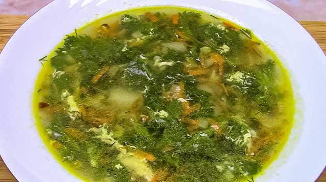 Суп с крапивой и картошкой
