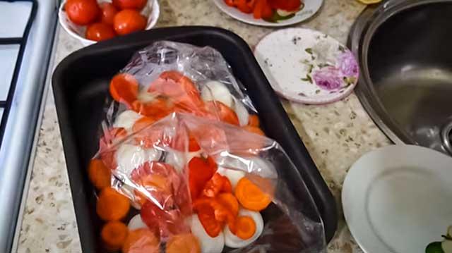 Рукав с овощами