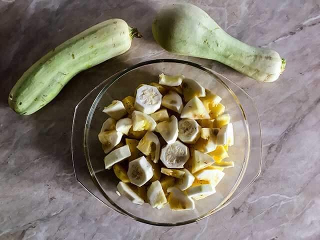 Кабачок и картофель
