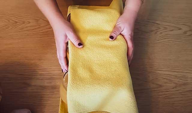 Кабачковая икра под полотенцем