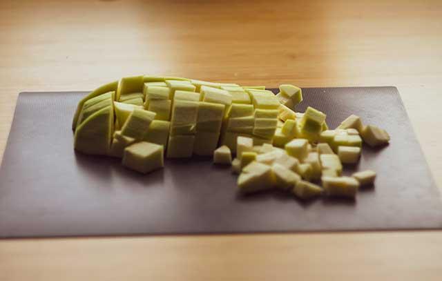Порезанный кабачок