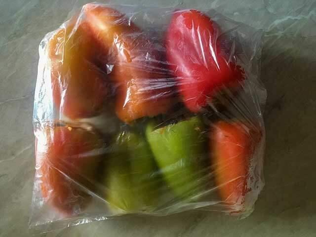 Перцы в пакете